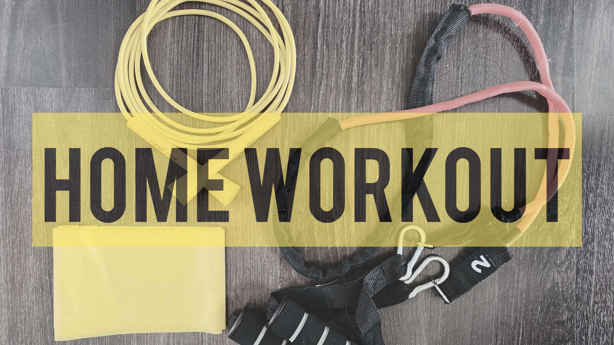 Home workout what you can do