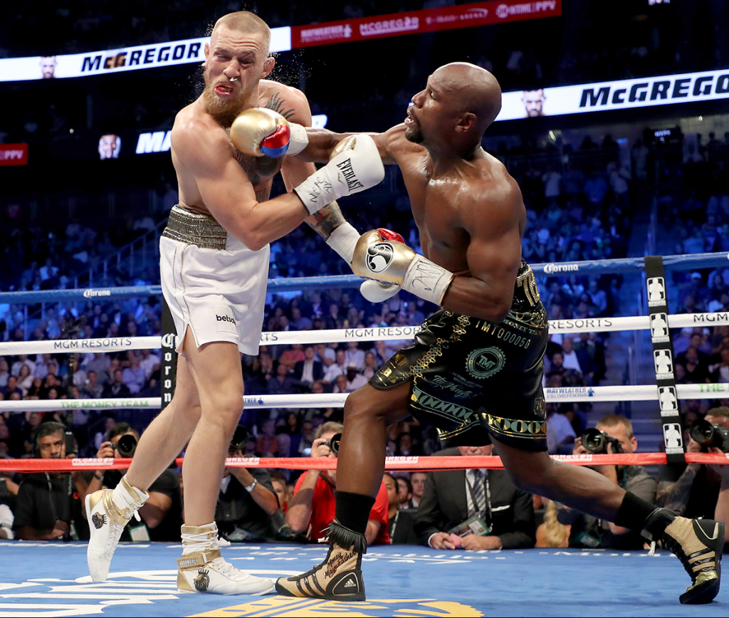 Floyd-Mayweather punch to Conor-Mcgregor